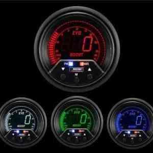 Manometro Pressione Turbo Digitale + Allarme - Prosport Serie Evo - 60mm