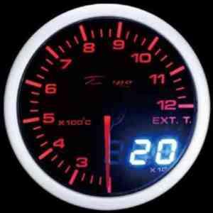 Manometro Temperatura Gas di Scarico Analogico e Digitale - Depo Racing - 52mm