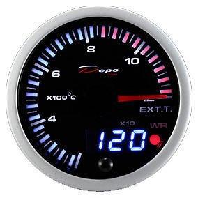 Manometro Temperatura Gas di Scarico Analogico e Digitale - Depo Racing - 60mm