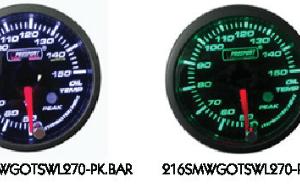 Manometro Temperatura Olio Analogico con Allarme - Prosport serie Premium - 52mm