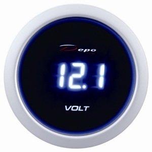 Manometro Voltmetro Digitale - Depo Racing - 52mm