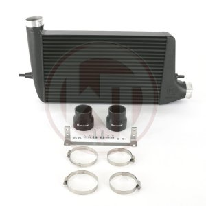 Competition Intercooler Kit Mitsubishi EVO X Mitsubishi Lancer Evo X Mitsubishi Lancer EVOLUTION X 200001096 wagner wagnertuning mondotuning mtelaborazioni Competition Intercooler Kit for Mitsubishi EVO XThe High Performance Intercooler has the following core dimension (530mm x 318mm x 100mm) and thus offers a 19% larger cooling surface and 70% more charge air volume compared to the original intercooler. The newly developed  competition core supports a very high ratio of airflow and is also very light. The weight of complete intercooler is only 10