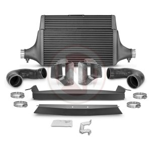 Comp. Intercooler Kit +Ram Air Kia Stinger GT (EU) Kia Stinger Kia Stinger GT 3.3 BiTurbo 200001142.AIR wagner wagnertuning mondotuning mtelaborazioni COMPETITION INTERCOOLER KIT Kia Stinger GT 3.3T-Gdi AWD  RWD (EU)The WAGNERTUNING high-performance intercooler has got a new competition core (Tube Fin) with the dimensions 600 mm x 445(315) mm x 105(60) mm / 23