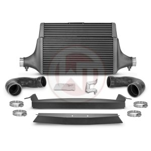 Comp. Intercooler Kit Kia Stinger GT (EU) Kia Stinger Kia Stinger GT 3.3 BiTurbo 200001142 wagner wagnertuning mondotuning mtelaborazioni COMPETITION INTERCOOLER KIT Kia Stinger GT 3.3T-Gdi AWD  RWD (EU)The WAGNERTUNING high-performance intercooler has got a new competition core (Tube Fin) with the dimensions 600 mm x 445(315) mm x 105(60) mm / 23