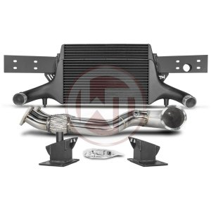 Comp. Package EVO3 TTRS 8S without cat pipes Audi Audi TTRS Audi TTRS 8S 700001063 wagner wagnertuning mondotuning mtelaborazioni The competition package for the Audi TTRS 8S consists of the Intercooler Upgrade Kit EVO3 and the Downpipe Kit.Intercooler Upgrade Kit 200001136The high performance intercooler has the following core dimension (515mm x 367mm x 95mm = 16.500cm¶ü) and thus offers a 84% larger cooling surface and 101% more charge air volume compared to the original intercooler. Our engineers have increased the intercooler core size and efficiency