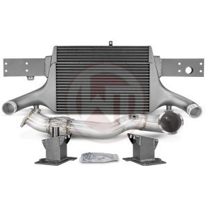 Comp. Package EVO3 RS3 8V without cat pipes Audi Audi RS3 Audi RS3 8V 700001066.NOACC wagner wagnertuning mondotuning mtelaborazioni The competition package for theAudi RS3 8V Sportback/Sedan 294KW/400PS (08/2017+) consists of the Intercooler Upgrade Kit EVO3 and the Downpipe Kit.Intercooler Upgrade Kit 200001081The high performance intercooler has the following core dimension (515mm x 367mm x 95mm = 16