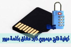 كيفية فك قفل ميموري كارد مغلق برقم سري ، شرح كيفية فك التشفير .