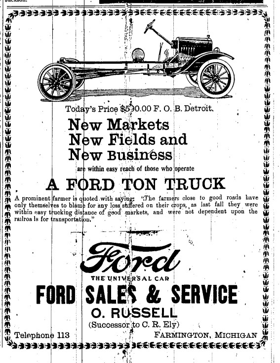 Model T Ford Forum: Model T Newspaper Ads...
