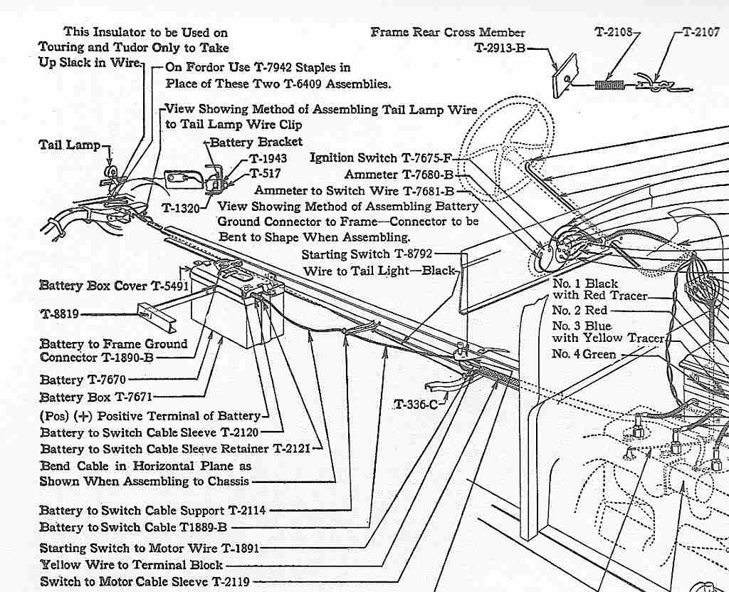 1926 1927 Ford Model T Wiring Diagram With Electric