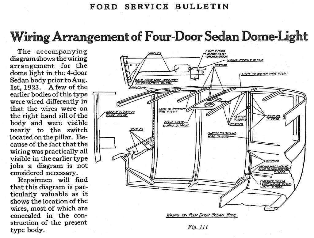 model t ford wiring diagram trailer 7 forum another 26 fordor dome light question