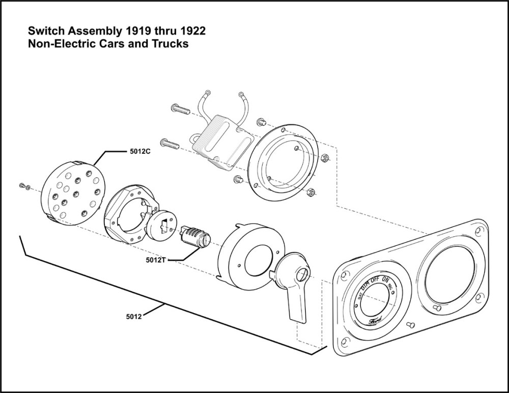 medium resolution of model t ford forum 1919 thru 1922 switch assembly for non electrified cars i think
