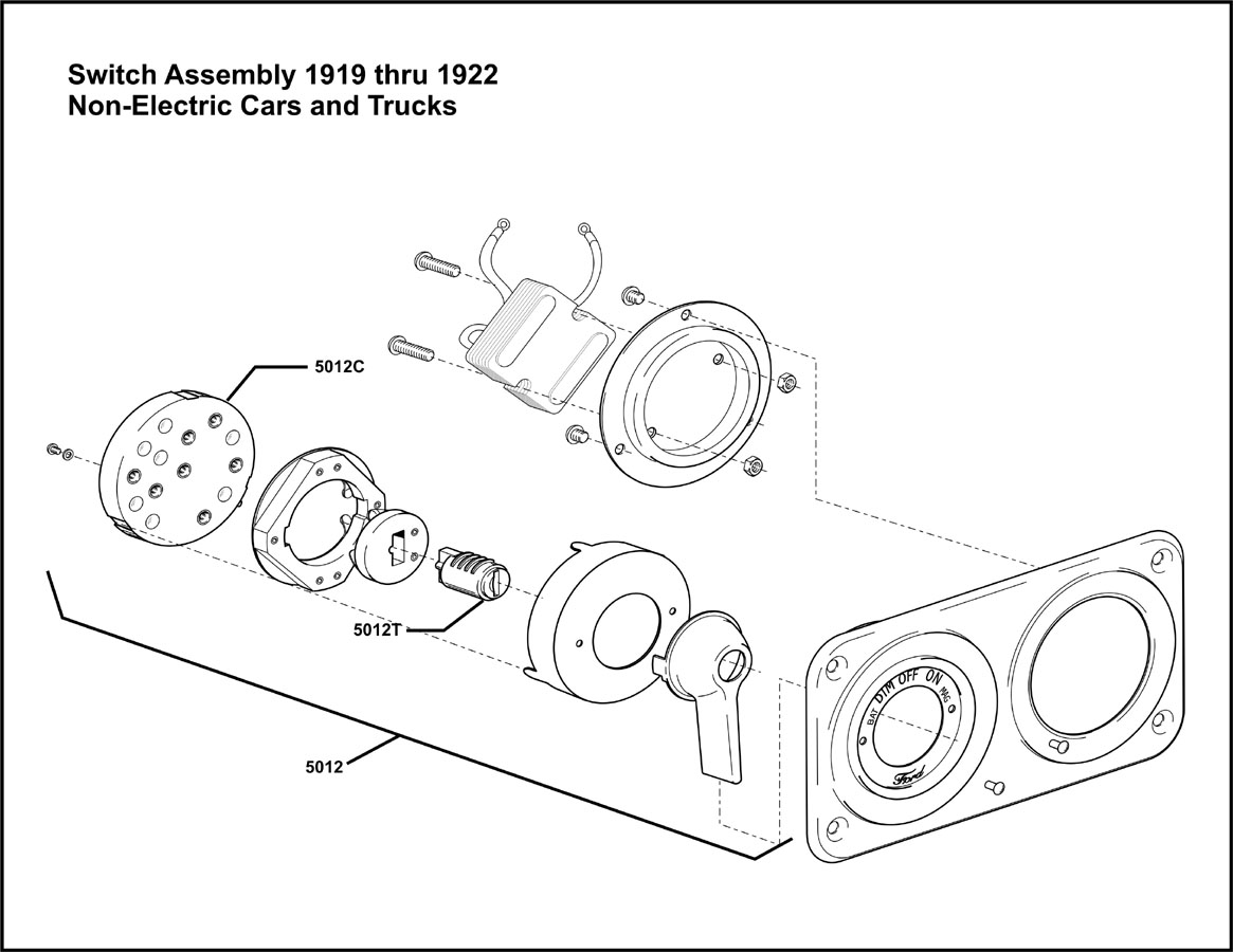hight resolution of model t ford forum 1919 thru 1922 switch assembly for non electrified cars i think
