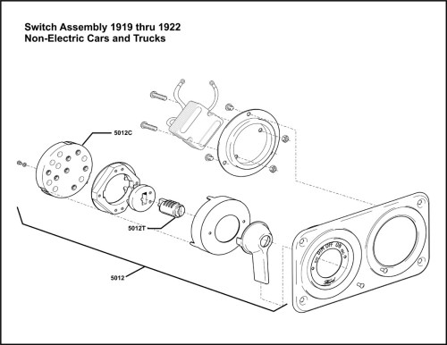 small resolution of model t ford forum 1919 thru 1922 switch assembly for non electrified cars i think