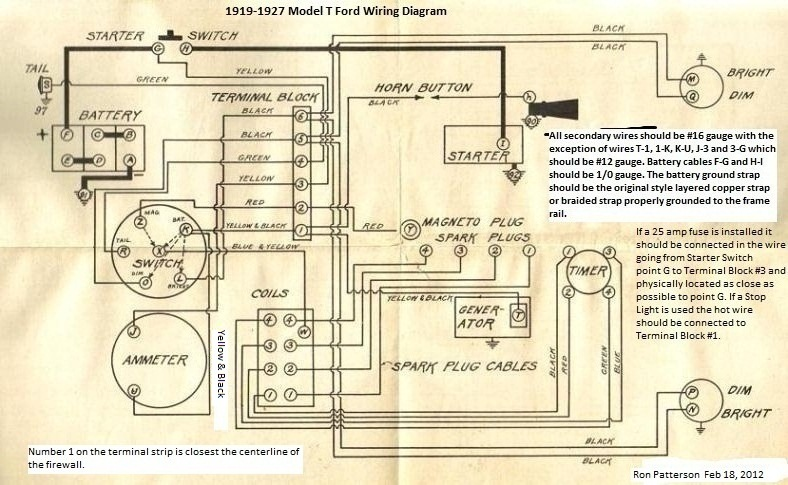 Model T Ford Forum Anyone Have Detailed Colored Wiring Diagrams?