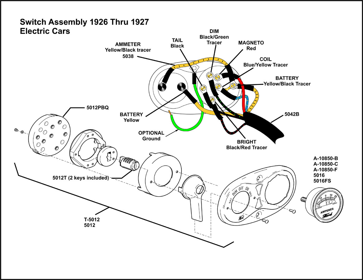 Model T Ford Forum: 1926-1927 Switch Assembly for