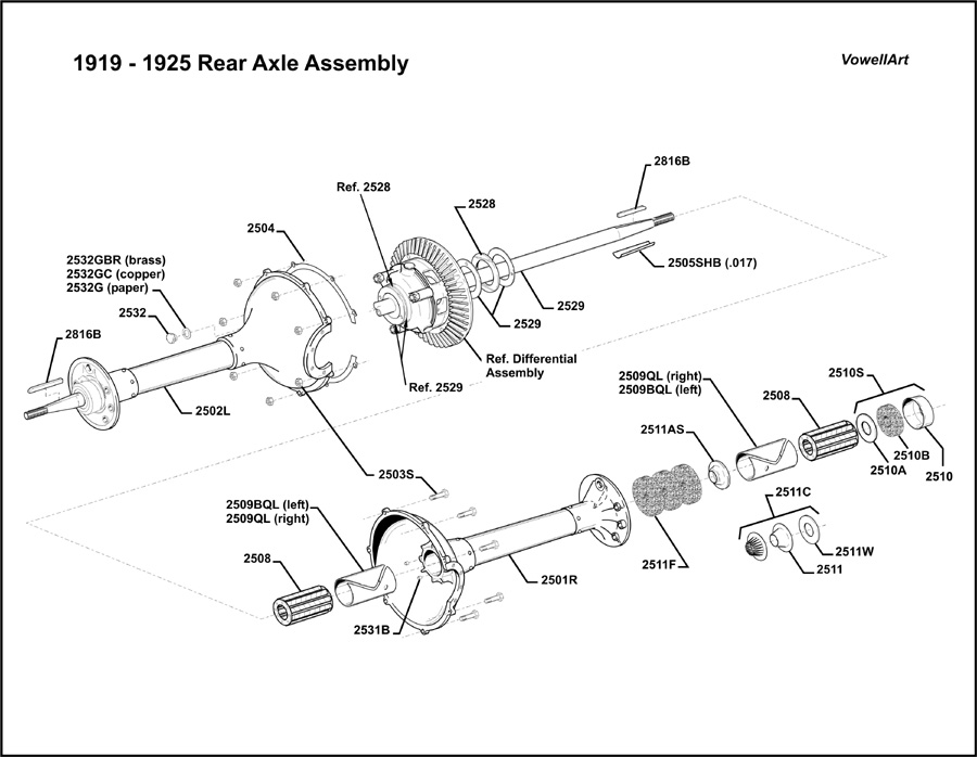 Model T Ford Forum: **1919-1925 Rear Axle Assembly**