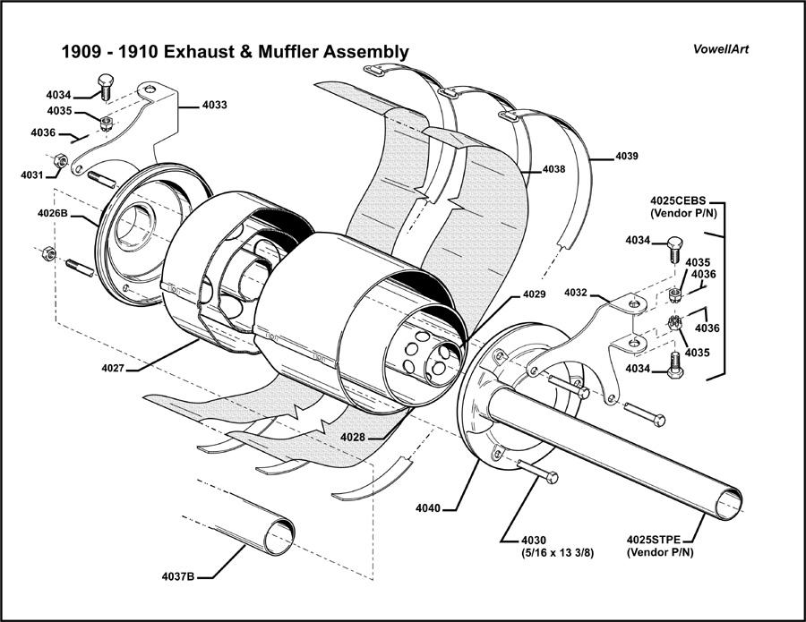 Ford 1910 muffler