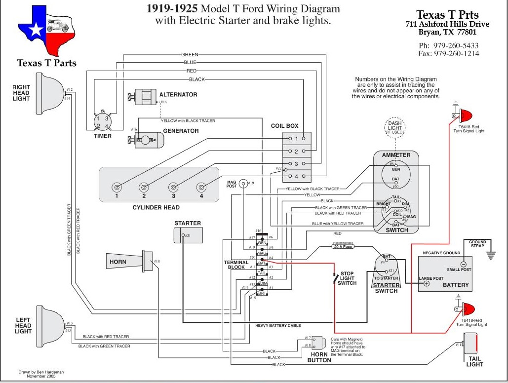 Wiring Manual PDF: 1926 Model T Wiring Diagram