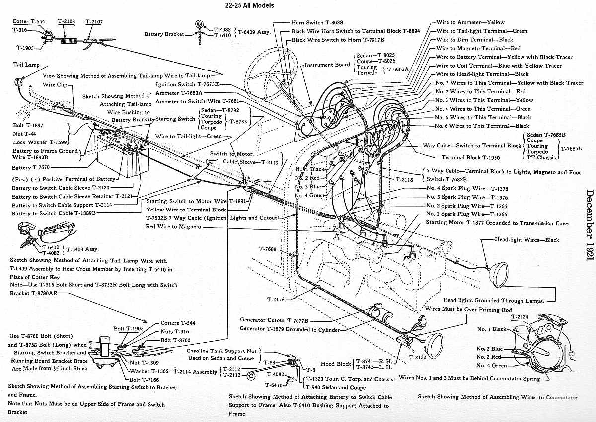 1924 ford model t wiring diagram 2005 yfz 450 forum wire harness clip hardware