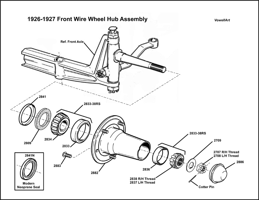 Model T Ford Forum: ***1926-1927 Front Hub for Wire Wheels