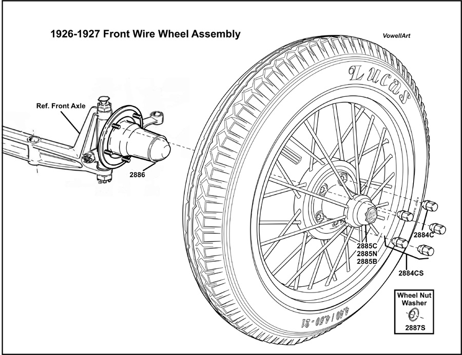 Model T Ford Forum: ***1926-1927 Front Wire Wheel Assembly***