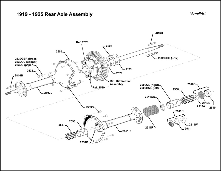 Model T Ford Forum: Clamshell rear axle assembly diagram