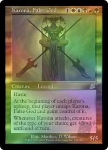Karona. False God | Scourge English Foil Singles | Magic the Gathering