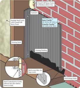 Brick Rainscreen Retrofit Detail Drawing Preview