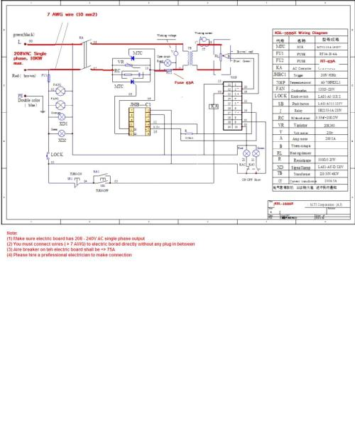 small resolution of electric diagram for ksl 1600x furnace and all mti furnaces with power 10kw