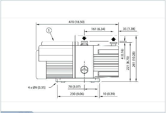 RV12 Edwards Two-Stage Rotary Vane Pump, 110/220V 1-ph, 50