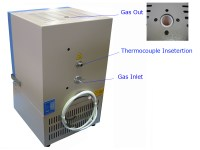"""1500C Compact Muffle Furnace (4.7""""x4.7""""x 4.7"""",1.7L) with ..."""