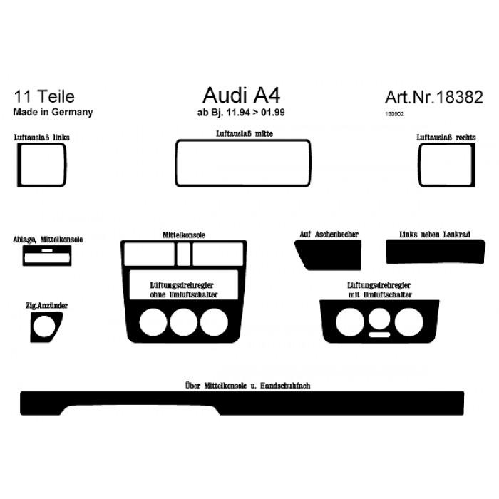 Décoration de tableau de bord Audi A4