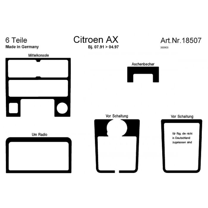 Décoration de tableau de bord Citroen AX