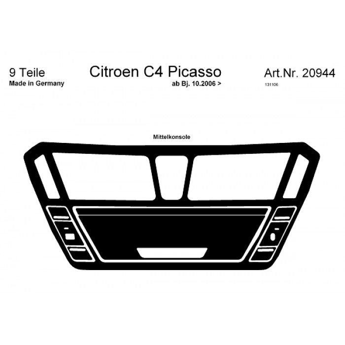 Décoration de tableau de bord Citroen C4 Picasso