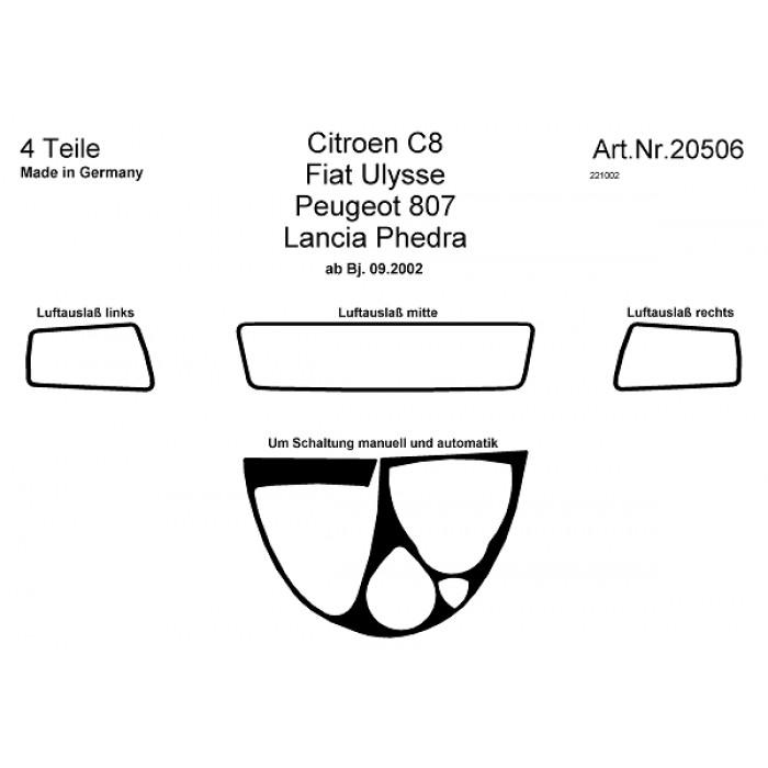 Décoration de tableau de bord Citroen C8