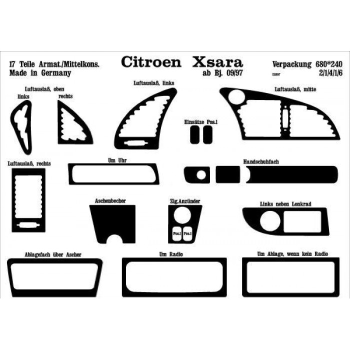Décoration de tableau de bord Citroen Xsara