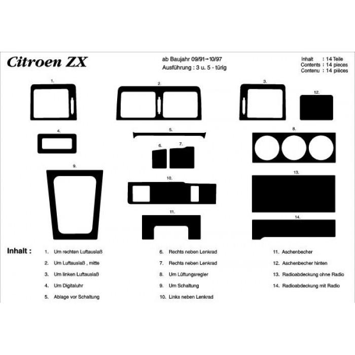 Décoration de tableau de bord Citroen ZX