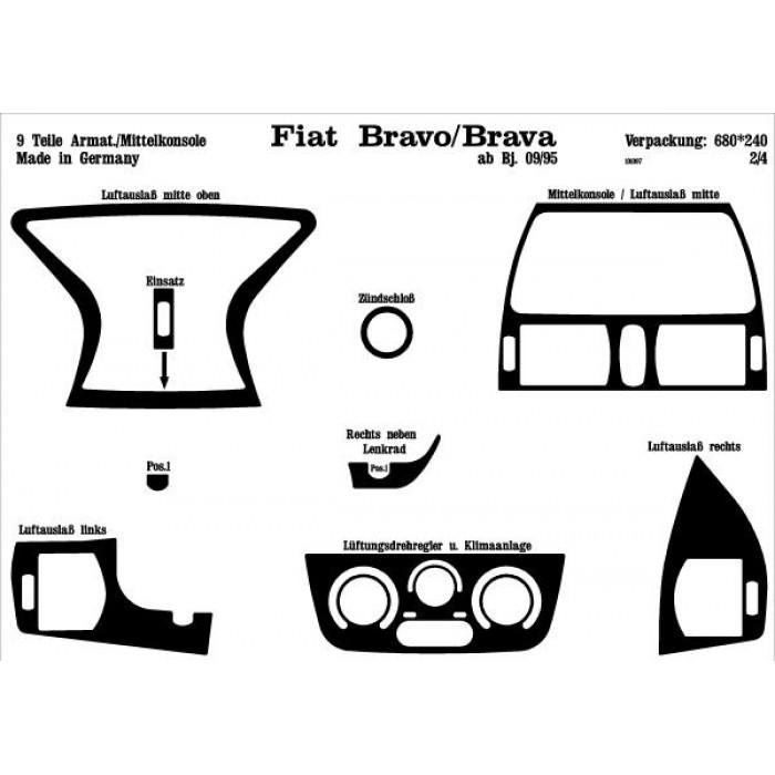 Décoration de tableau de bord Fiat Bravo/ Brava