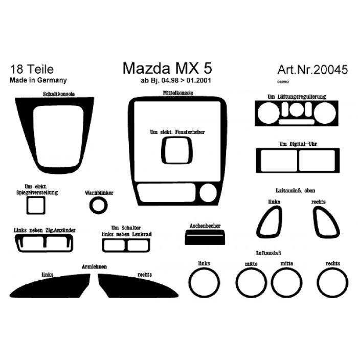 Décoration de tableau de bord, portes Mazda MX 5