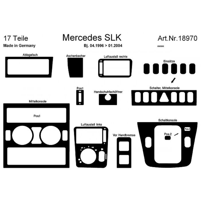 Décoration de tableau de bord Mercedes SLK