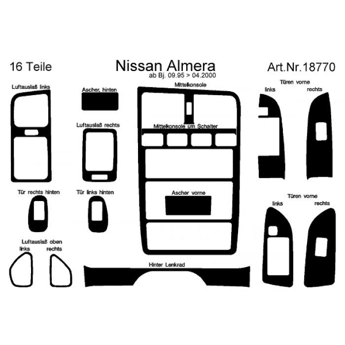 Décoration de tableau de bord, portes Nissan Almera