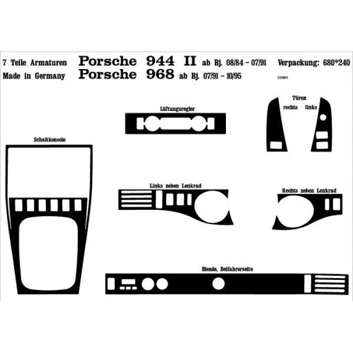 Décoration de tableau de bord, portes Porsche 944 II