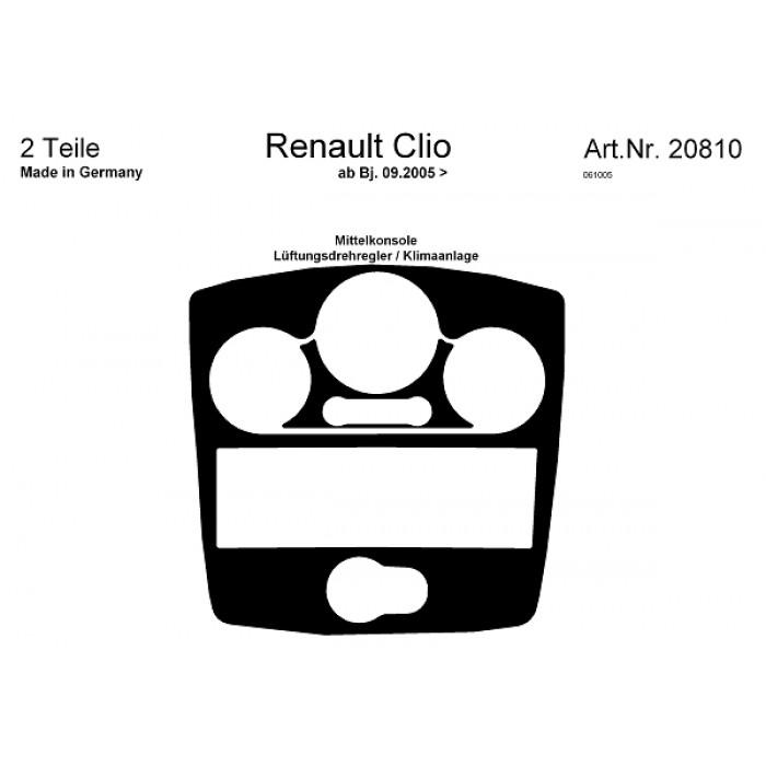 Décoration de tableau de bord Renault Clio