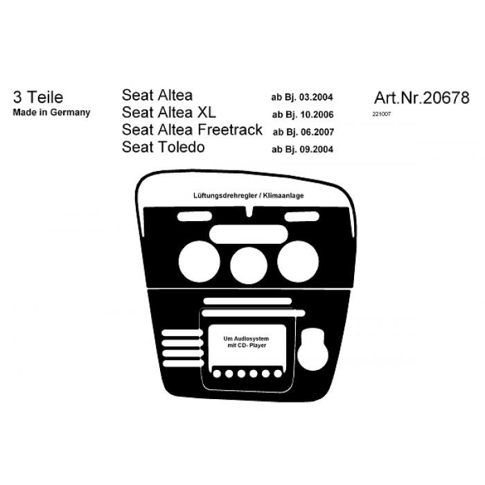 Décoration de tableau de bord Seat Altea, XL, Freetrack
