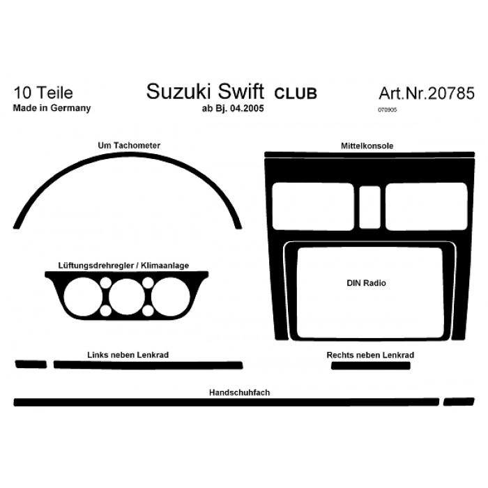 Décoration de tableau de bord Suzuki Swift