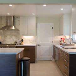 Dark Walnut Kitchen Cabinets Grey Rugs Two Tone Modern Remodel (before & After) | Mtkc ...