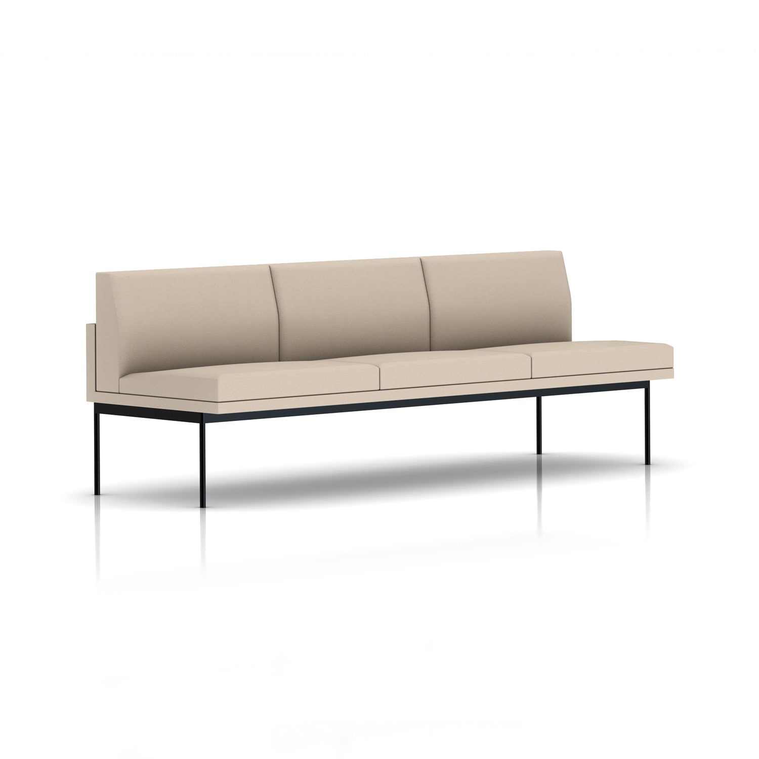 herman miller tuxedo sofa leather chaise lounge bed home furniture online