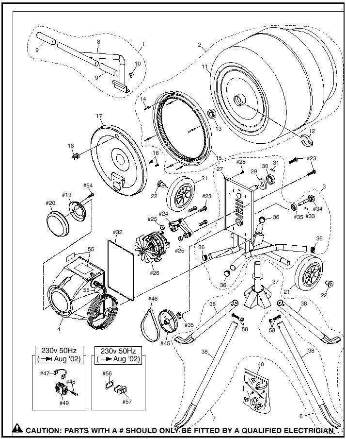 Central Machinery Cement Mixer Wiring Diagram