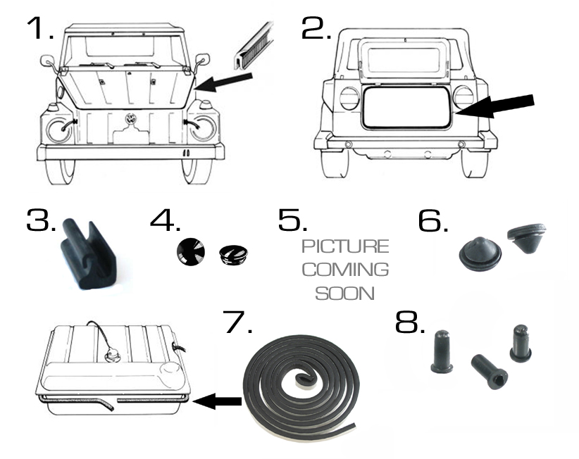Volkswagen Thing Body Rubber and Plastic