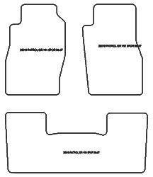 Tapis de sol Nissan Patrol GR II (Y61) 3 portes de 1998 a